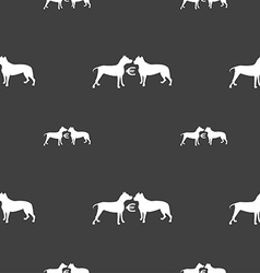 Betting on dog fighting icon sign Seamless pattern vector