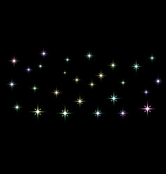 black background with light stars vector image