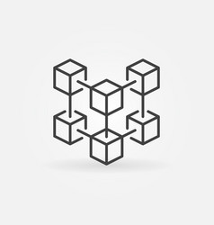 blockchain crypto technology concept vector image