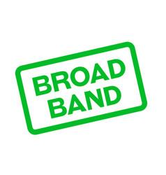 Broadband sticker stamp vector