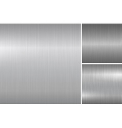 Brushed metal textures vector