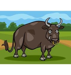 Bull farm animal cartoon vector