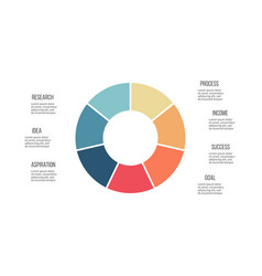 Business infographics circle with 7 parts vector