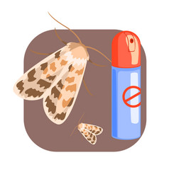 can of moth insecticide colorful cartoon vector image