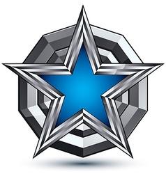 Celebrative glamorous geometric symbol stylized vector