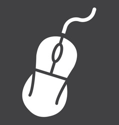 computer mouse solid icon click and device vector image