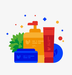 cosmetic products flat vector image