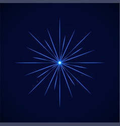 crystal blue simple flare on blue vector image