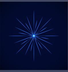 Crystal blue simple flare on blue vector