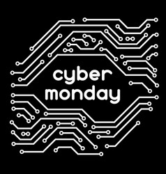 Cyber monday sale background online shopping and vector