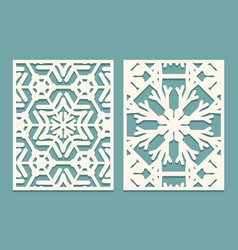 Die and laser cut ornamental panels with vector