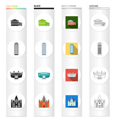 domes museum history and other web icon in vector image