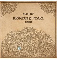 Dragon parchment card vector