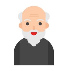 Elderly man avatar flat icon vector