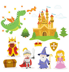 fairy tale set vector image