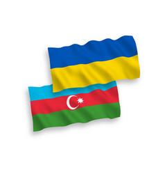 Flags azerbaijan and ukraine on a white vector
