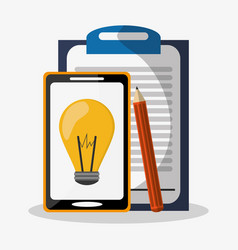 gadget and writing materials related icons image vector image