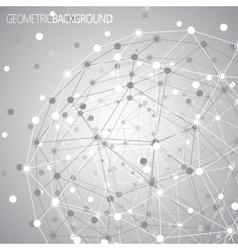 Geometric lattice the molecules in the circle vector image