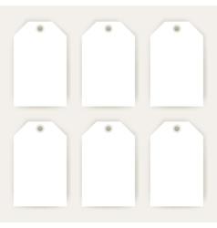 Gift Labels Empty Mockup vector