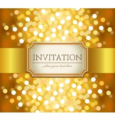 Golden invitation vector