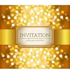 Golden invitation vector