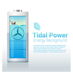 green energy concept background with tidal energy vector image