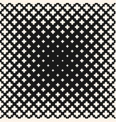 halftone seamless texture floral geometric cross vector image