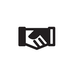 handshake icon for deal or agreement symbol eps10 vector image
