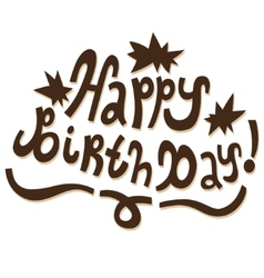 Happy Birthday - text doodles vector image