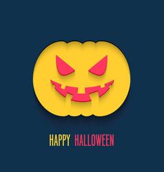 Happy halloween flat paper card vector