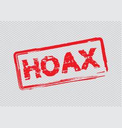 Hoax mark for fake news vector