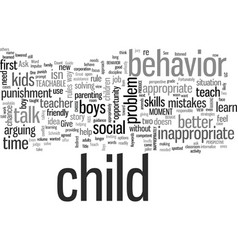 Inappropriate behavior as a teachable moment vector