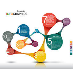 Infographic template abstract business concept vector