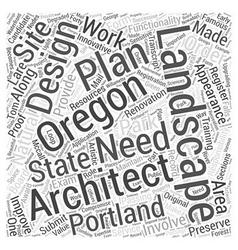 Landscape architect in Oregon Word Cloud Concept vector
