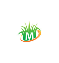 Lawn care center initial m vector