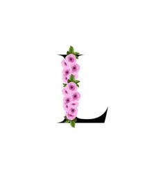 Letter l floral ornament vector