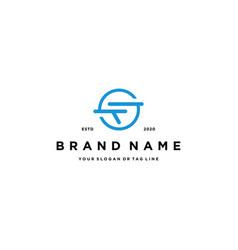 Letter sf logo design vector