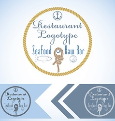 Logotype mock up for seafood restaurant and raw vector image