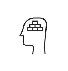 mental block or negative mindset icon vector image
