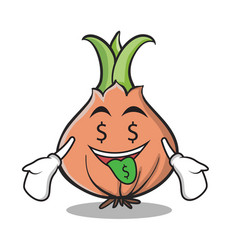 money mouth onion character cartoon vector image