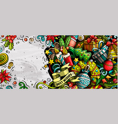 new year hand drawn doodle banner cartoon vector image