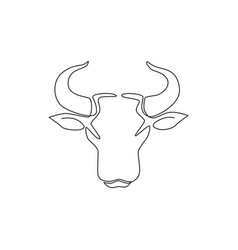 One continuous line drawing luxury head vector