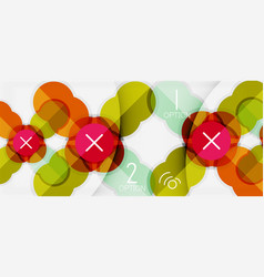 Paper geometric circle banner template vector