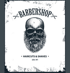 poster of barbershop label vector image