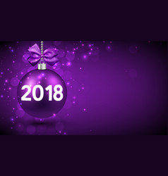 Purple 2018 new year background vector