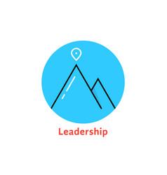 Round blue leadership logo vector