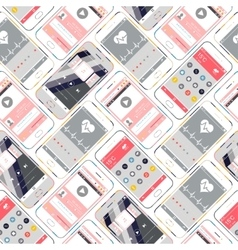 Seamless Pattern Smartphone vector image