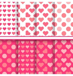 set seamless romantic love patterns vector image