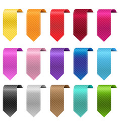 silk colorful ribbon sale set isolated with white vector image