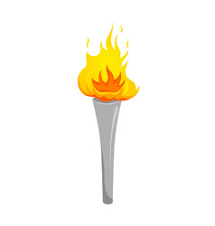 silver torch silver cup of fire vector image